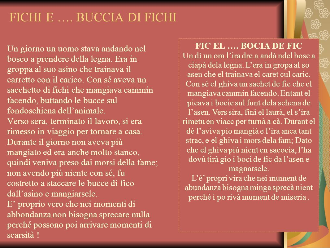 FICHI E …. BUCCIA DI FICHI