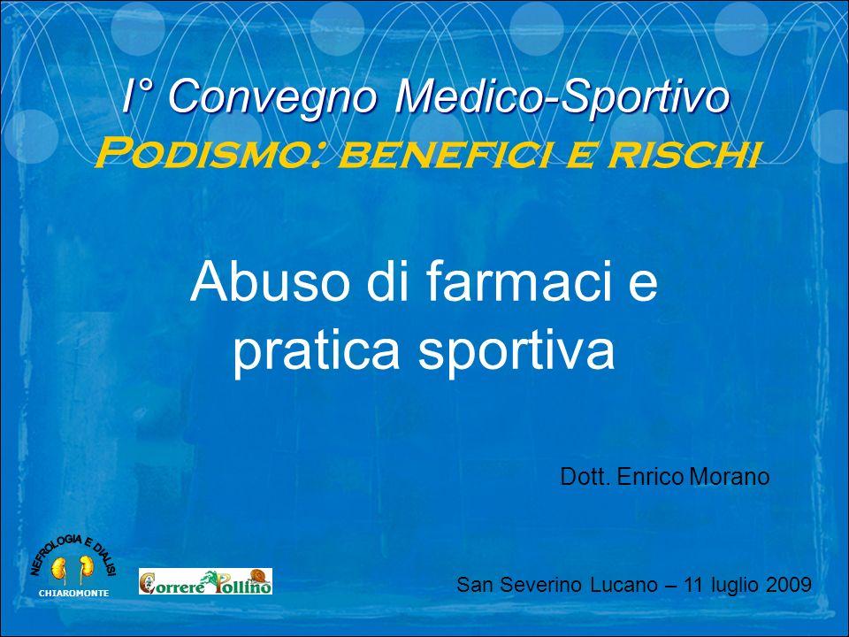 Abuso di farmaci e pratica sportiva