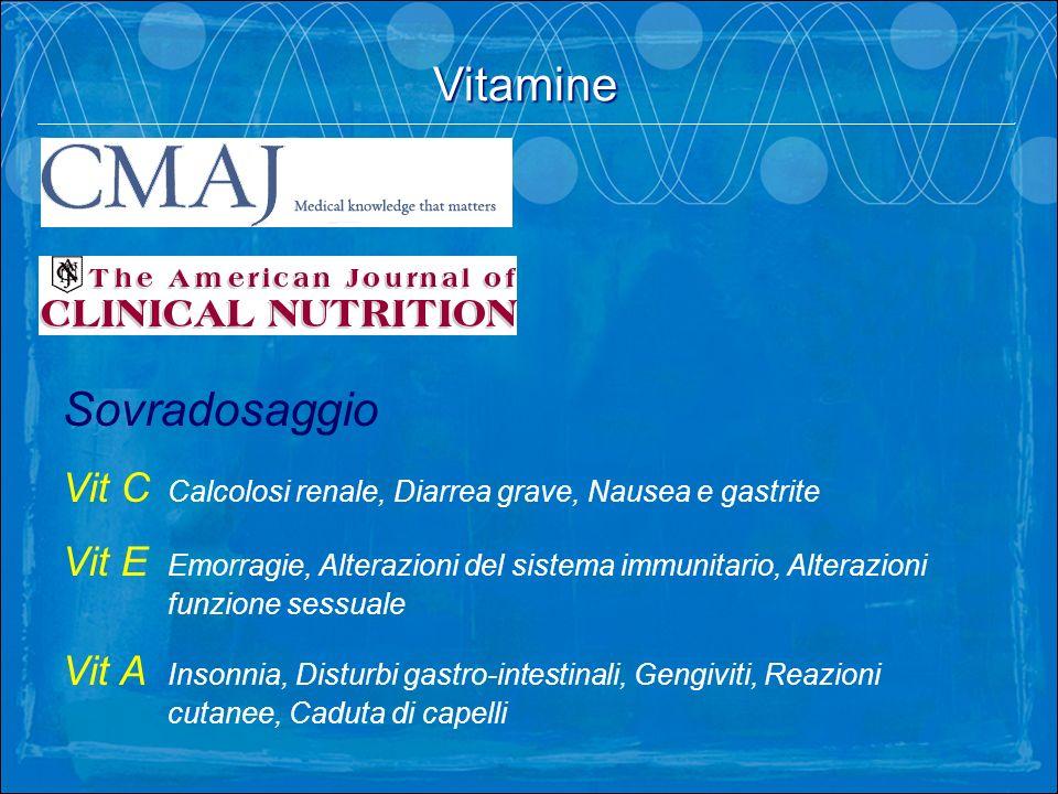 Vitamine Sovradosaggio
