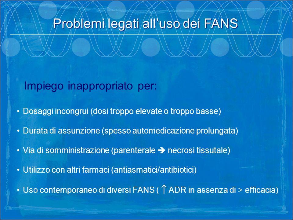 Problemi legati all'uso dei FANS