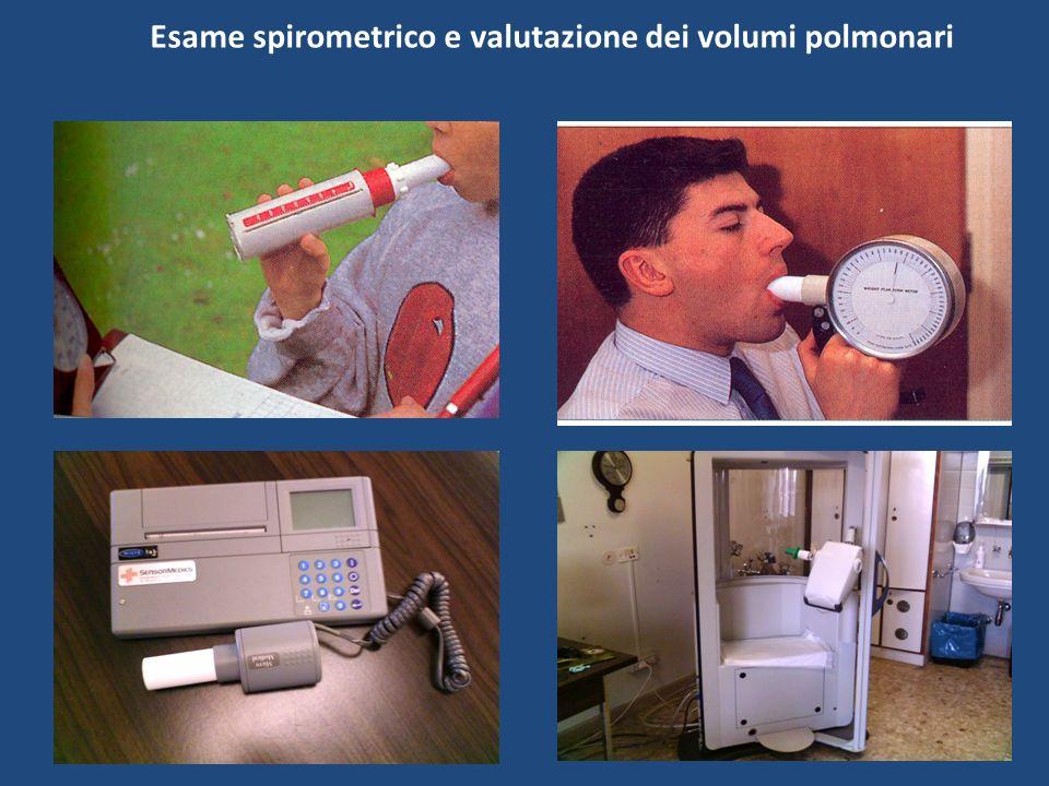 Esame spirometrico e valutazione dei volumi polmonari