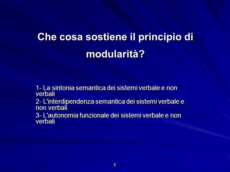 Che cosa sostiene il principio di modularità