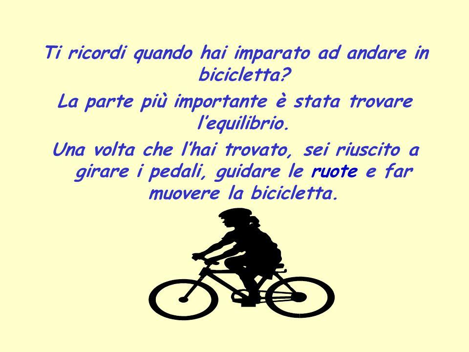 Ti ricordi quando hai imparato ad andare in bicicletta