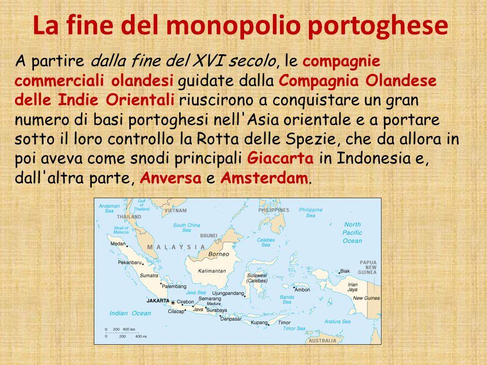 La fine del monopolio portoghese