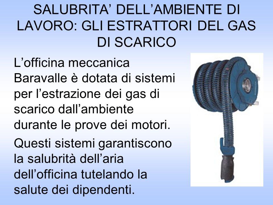 SALUBRITA' DELL'AMBIENTE DI LAVORO: GLI ESTRATTORI DEL GAS DI SCARICO