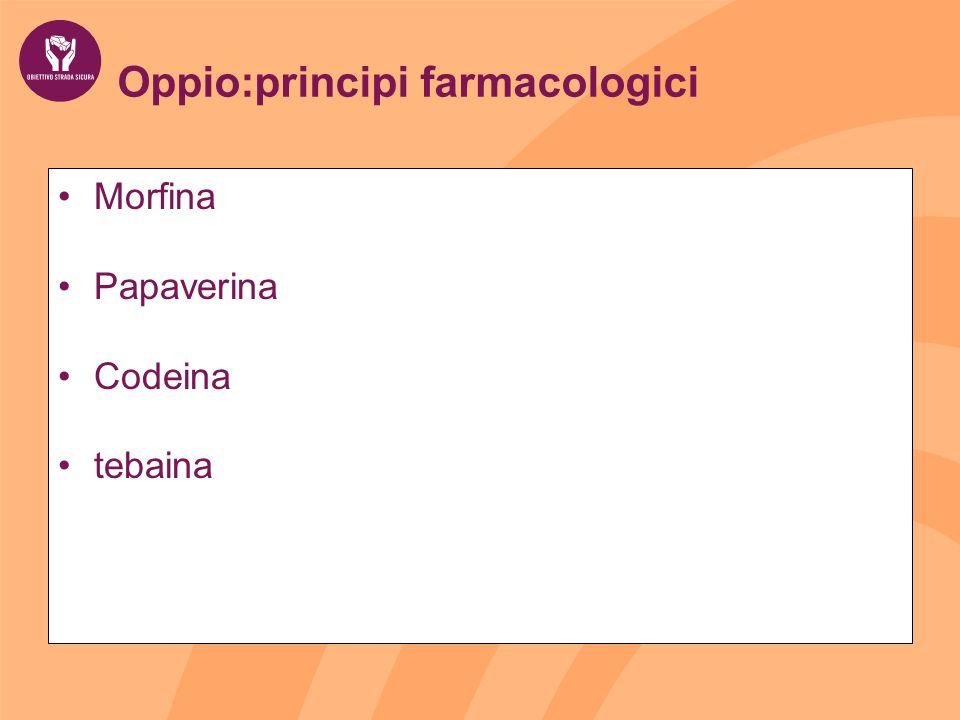 Oppio:principi farmacologici