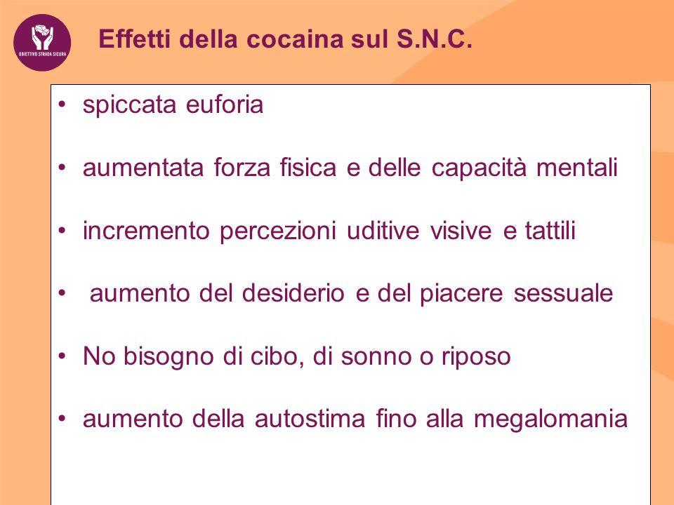 Effetti della cocaina sul S.N.C.