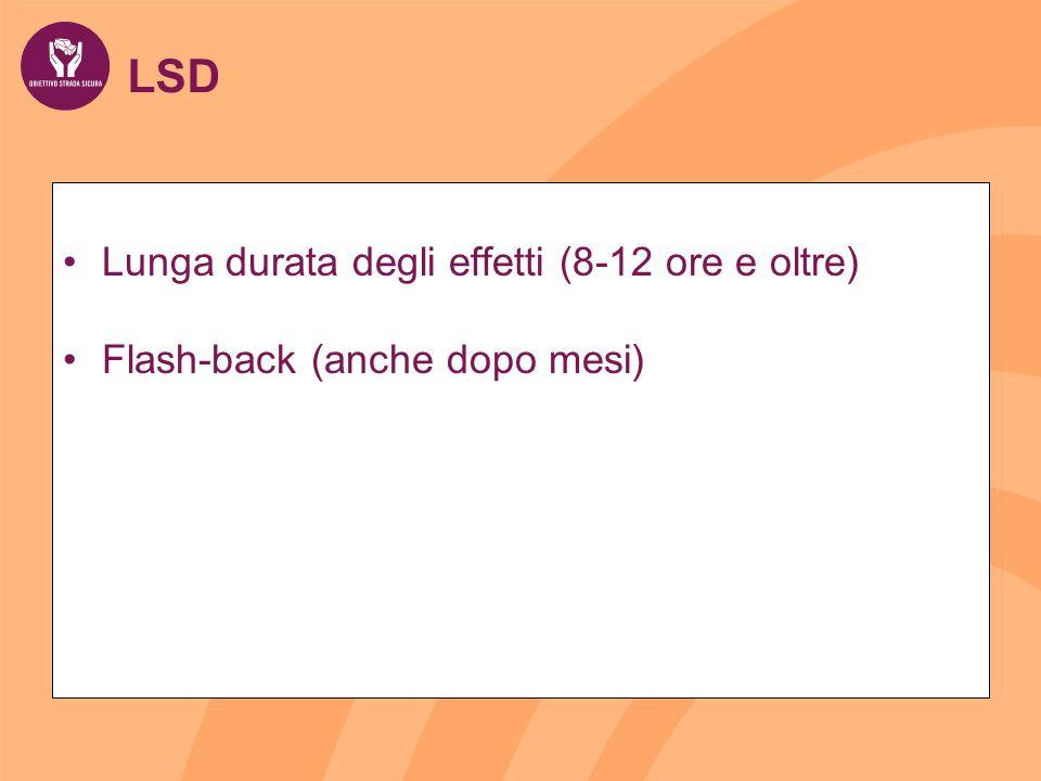LSD Lunga durata degli effetti (8-12 ore e oltre)