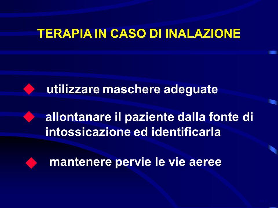 TERAPIA IN CASO DI INALAZIONE