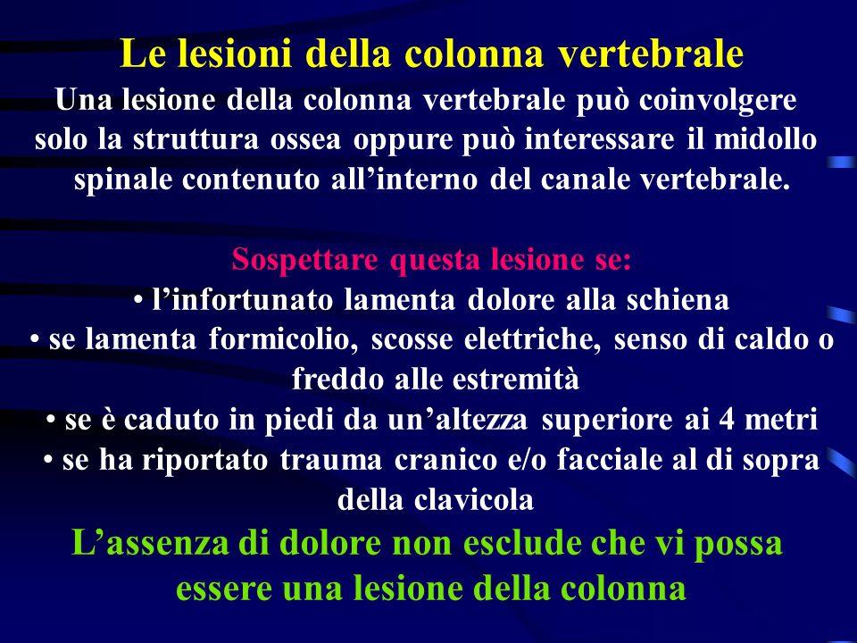Le lesioni della colonna vertebrale