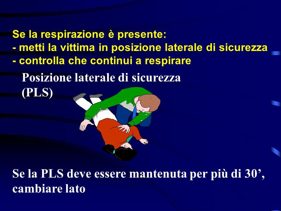 Posizione laterale di sicurezza (PLS)