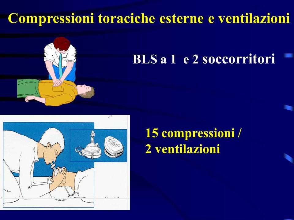 Compressioni toraciche esterne e ventilazioni
