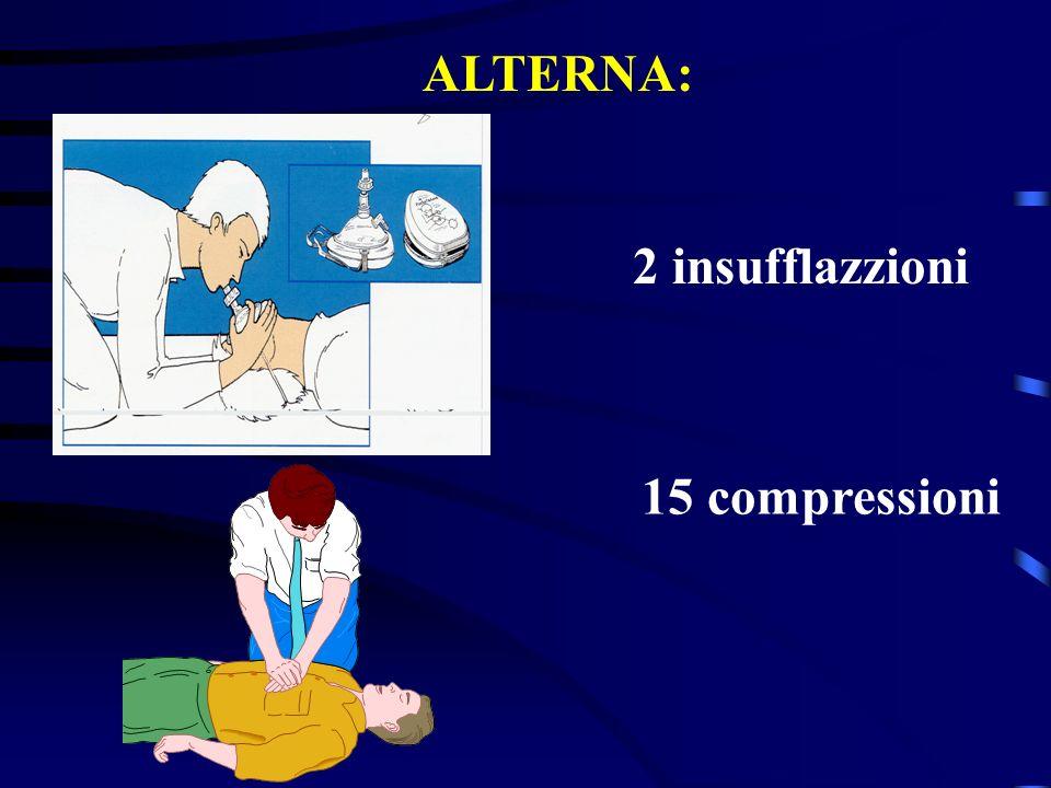 ALTERNA: 2 insufflazzioni 15 compressioni