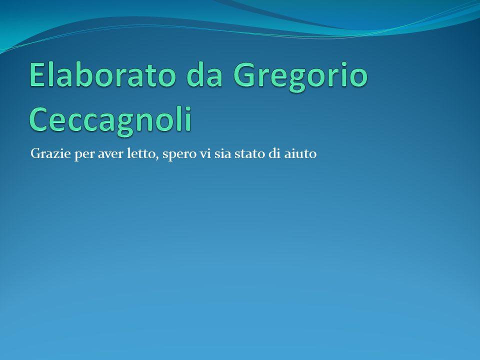 Elaborato da Gregorio Ceccagnoli