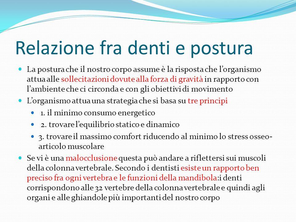 Relazione fra denti e postura