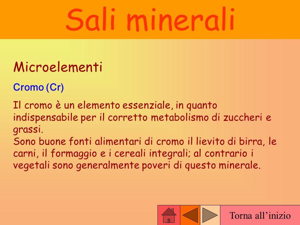 Sali minerali Microelementi Cromo (Cr)