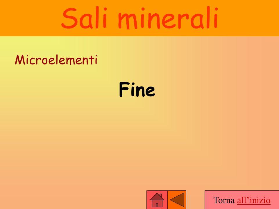 Sali minerali Microelementi Fine Torna all'inizio