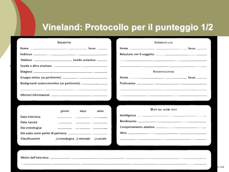 Vineland: Protocollo per il punteggio 1/2