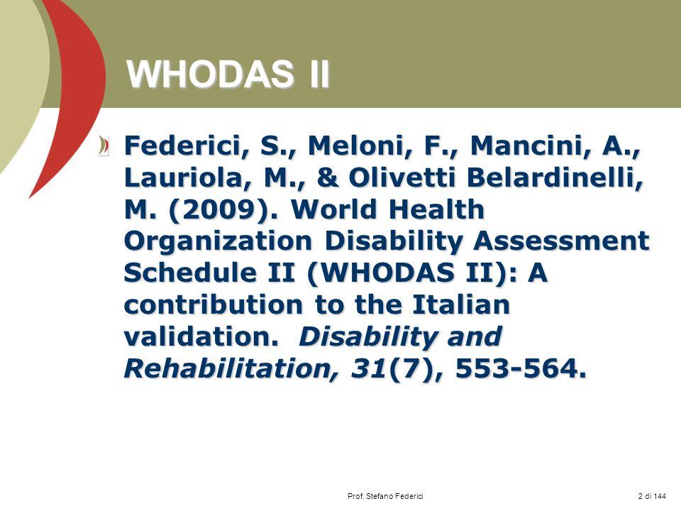 WHODAS II