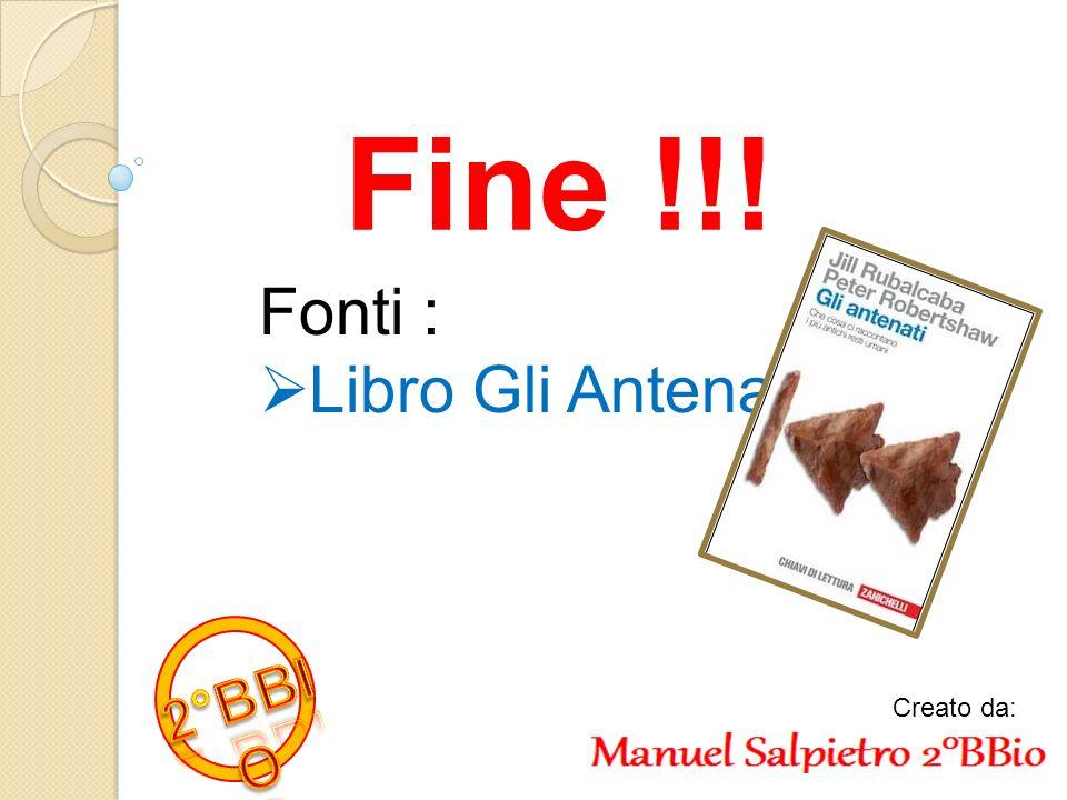 Fine !!! Fonti : Libro Gli Antenati 2°BBIO Creato da: