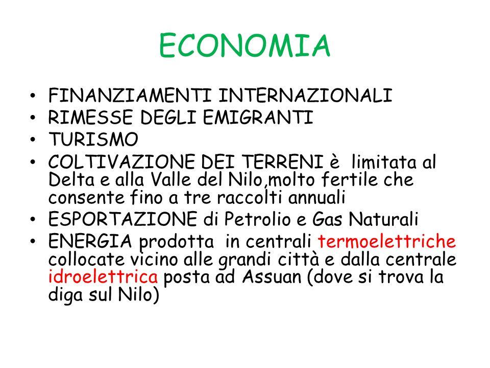 ECONOMIA FINANZIAMENTI INTERNAZIONALI RIMESSE DEGLI EMIGRANTI TURISMO