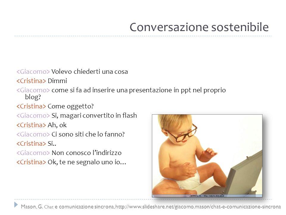 Conversazione sostenibile