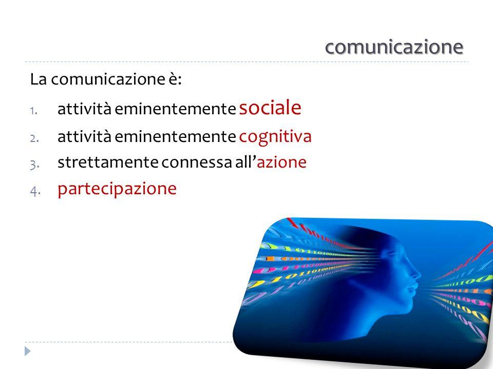 comunicazione partecipazione La comunicazione è: