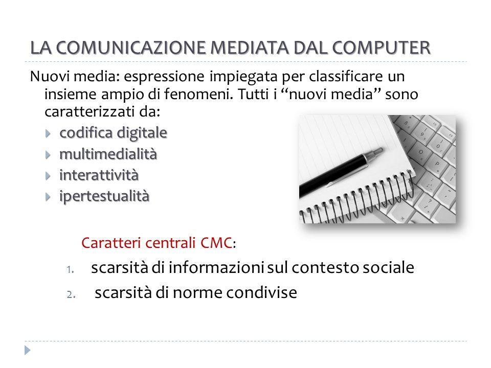 LA COMUNICAZIONE MEDIATA DAL COMPUTER