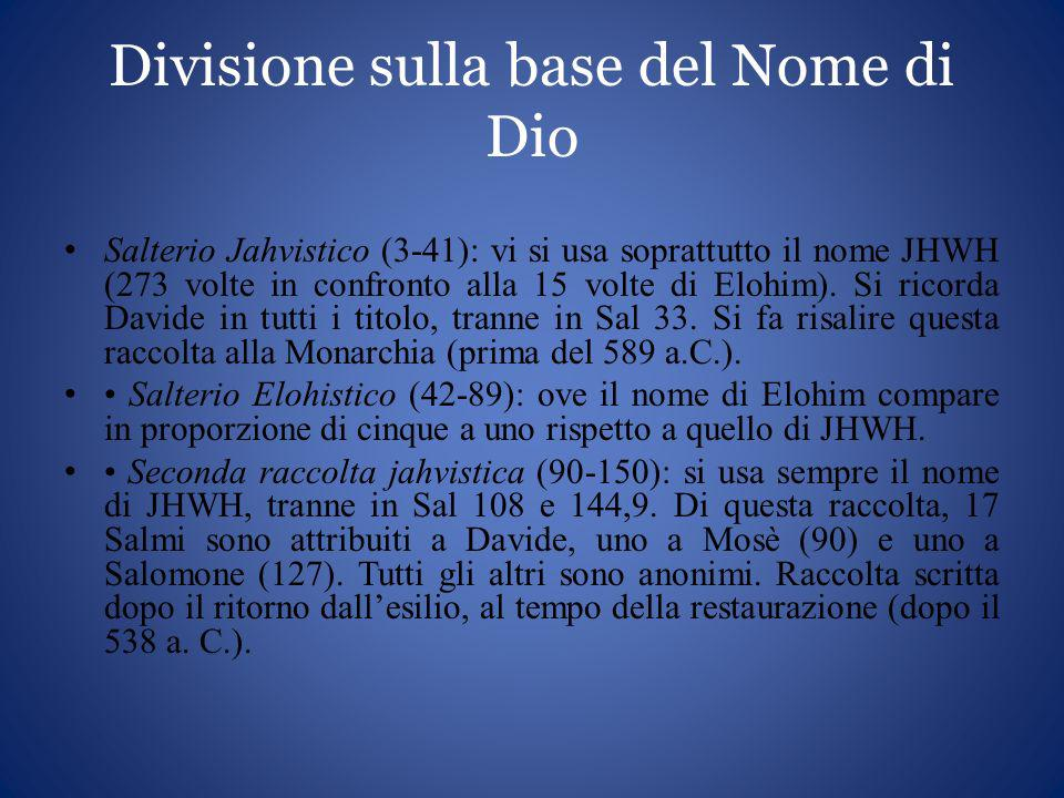 Divisione sulla base del Nome di Dio