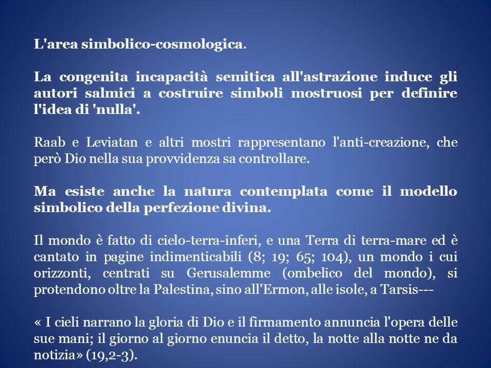 L area simbolico-cosmologica.