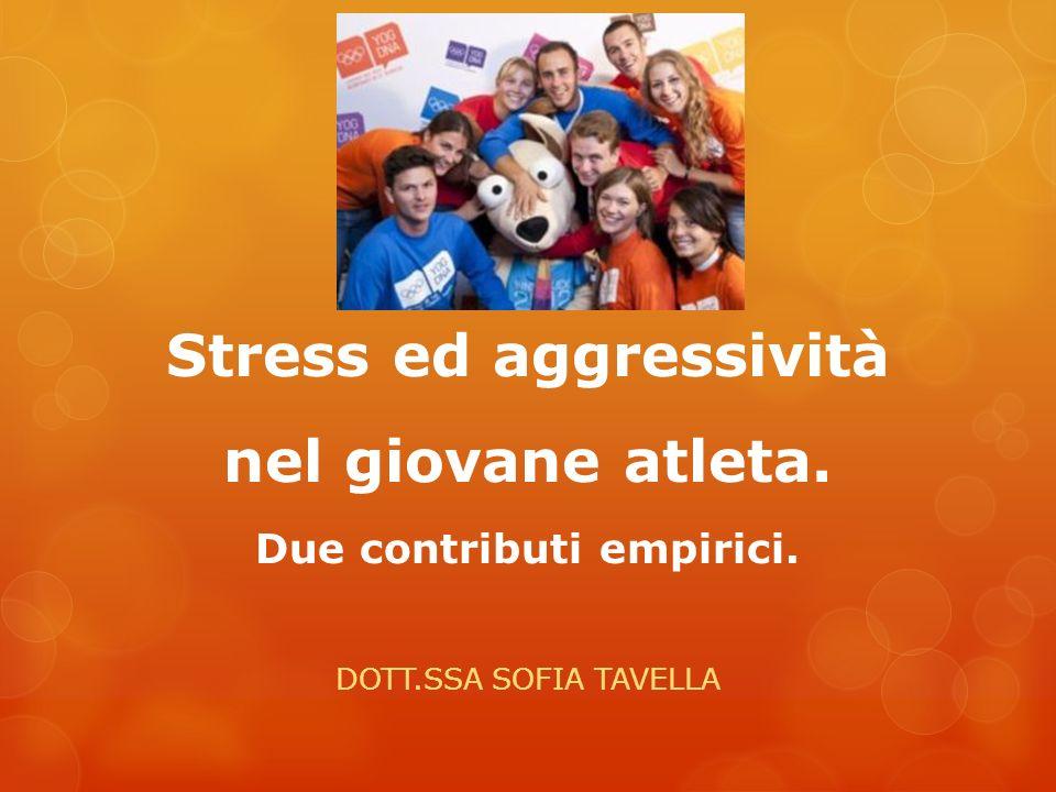 Stress ed aggressività nel giovane atleta. Due contributi empirici.