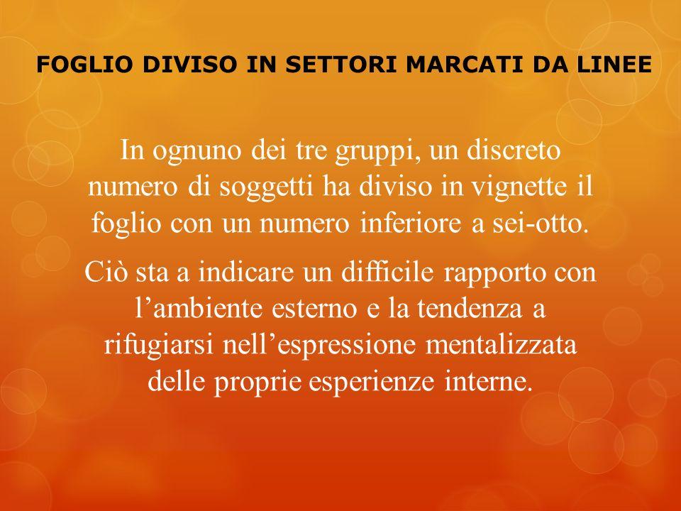 FOGLIO DIVISO IN SETTORI MARCATI DA LINEE