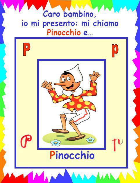 io mi presento: mi chiamo Pinocchio e…