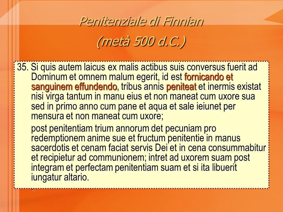 Penitenziale di Finnian (metà 500 d.C.)