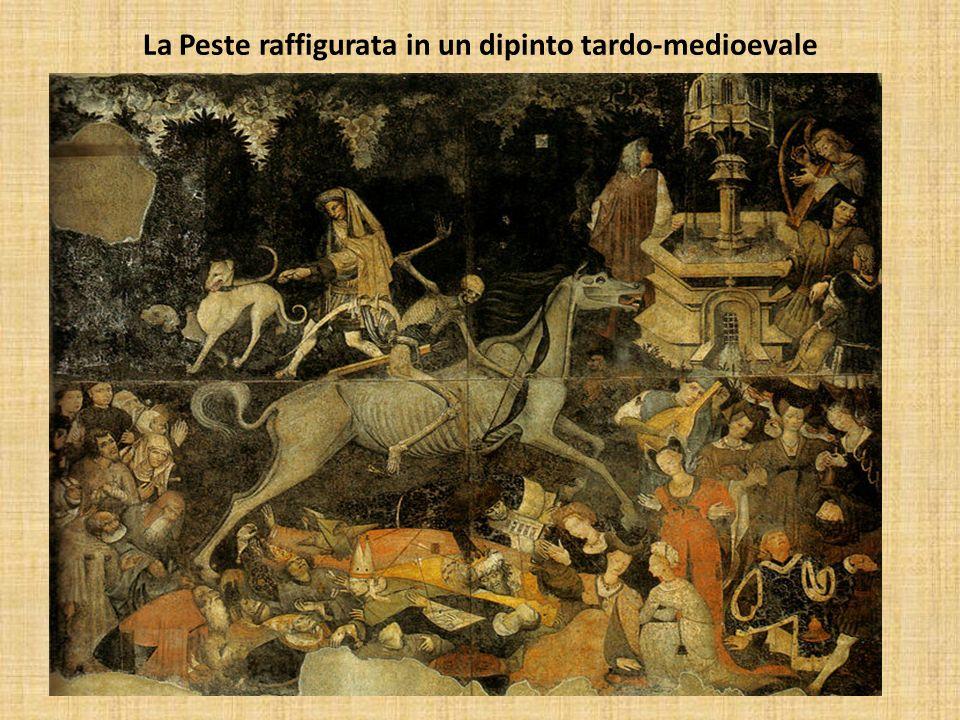 La Peste raffigurata in un dipinto tardo-medioevale