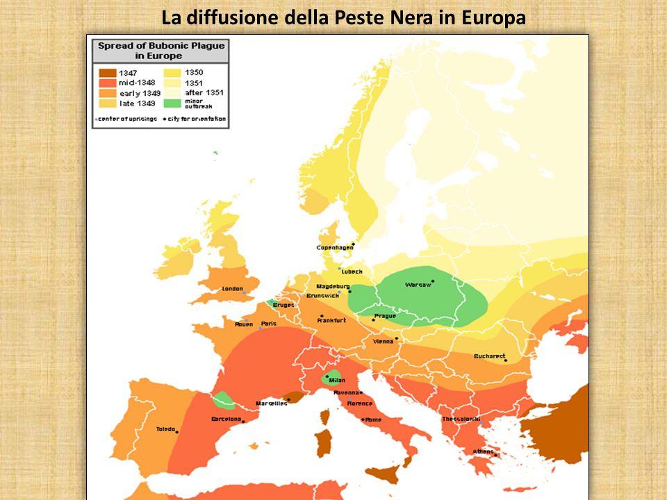 La diffusione della Peste Nera in Europa