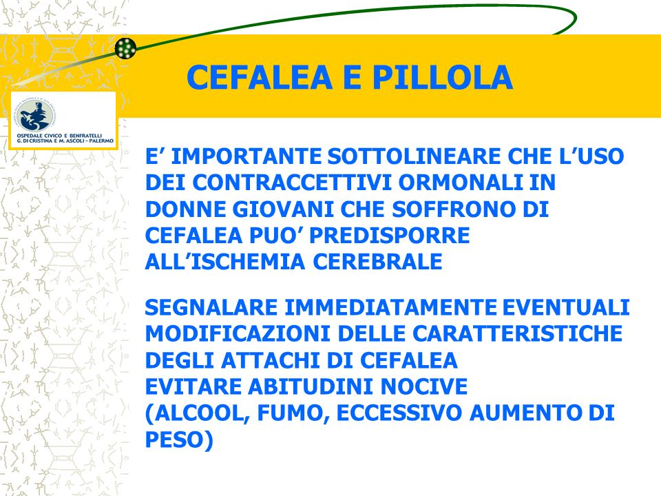 CEFALEA E PILLOLA