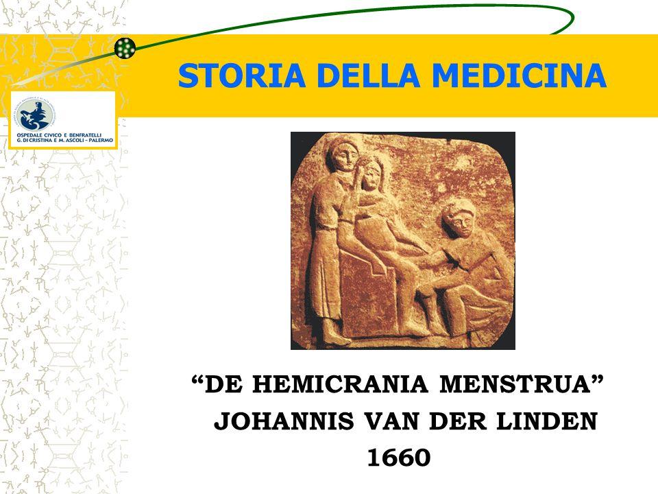 DE HEMICRANIA MENSTRUA JOHANNIS VAN DER LINDEN 1660