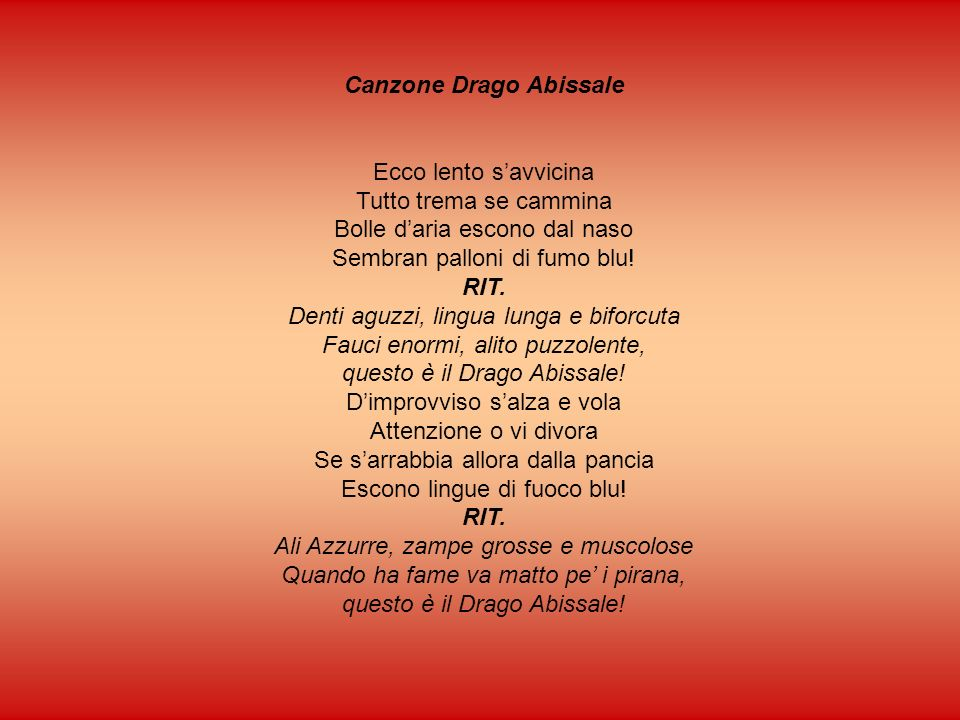 Canzone Drago Abissale