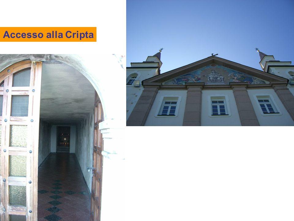 Accesso alla Cripta
