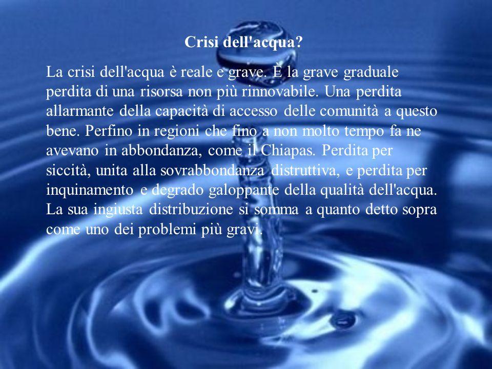 Crisi dell acqua