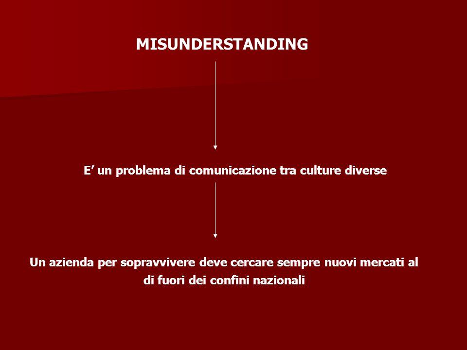 E' un problema di comunicazione tra culture diverse