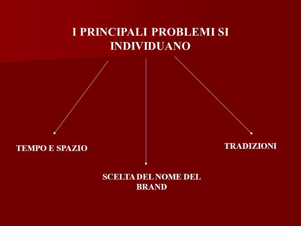 I PRINCIPALI PROBLEMI SI INDIVIDUANO