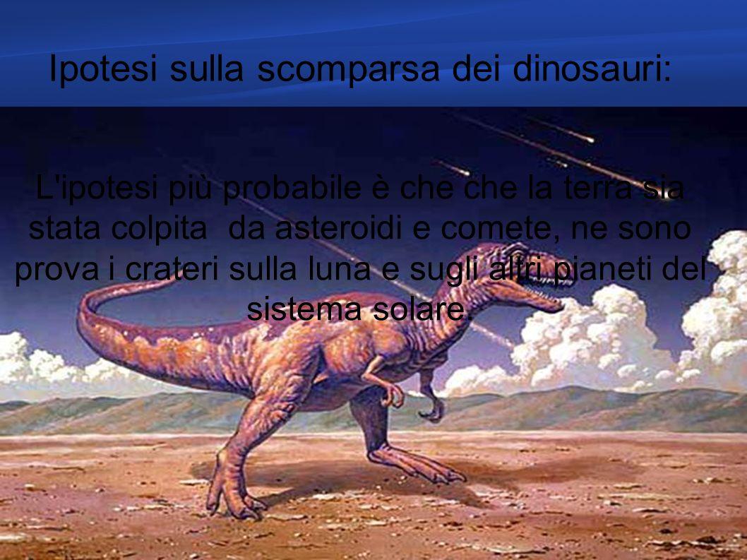 Ipotesi sulla scomparsa dei dinosauri: