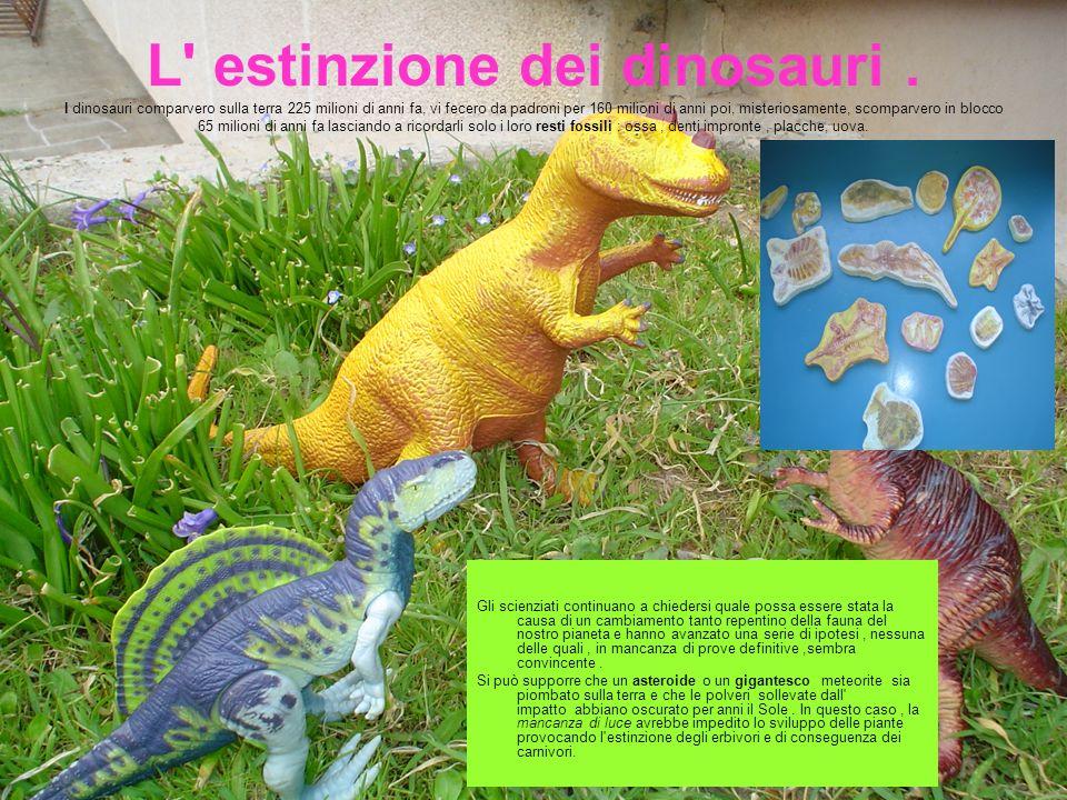 L estinzione dei dinosauri