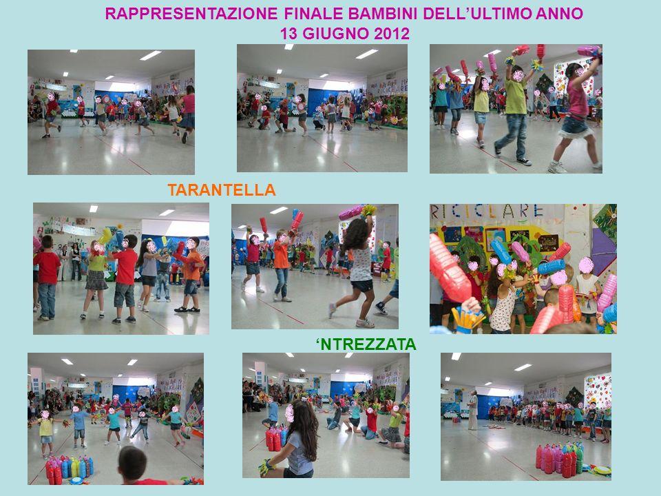 RAPPRESENTAZIONE FINALE BAMBINI DELL'ULTIMO ANNO 13 GIUGNO 2012