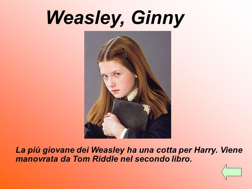 Weasley, Ginny La più giovane dei Weasley ha una cotta per Harry.