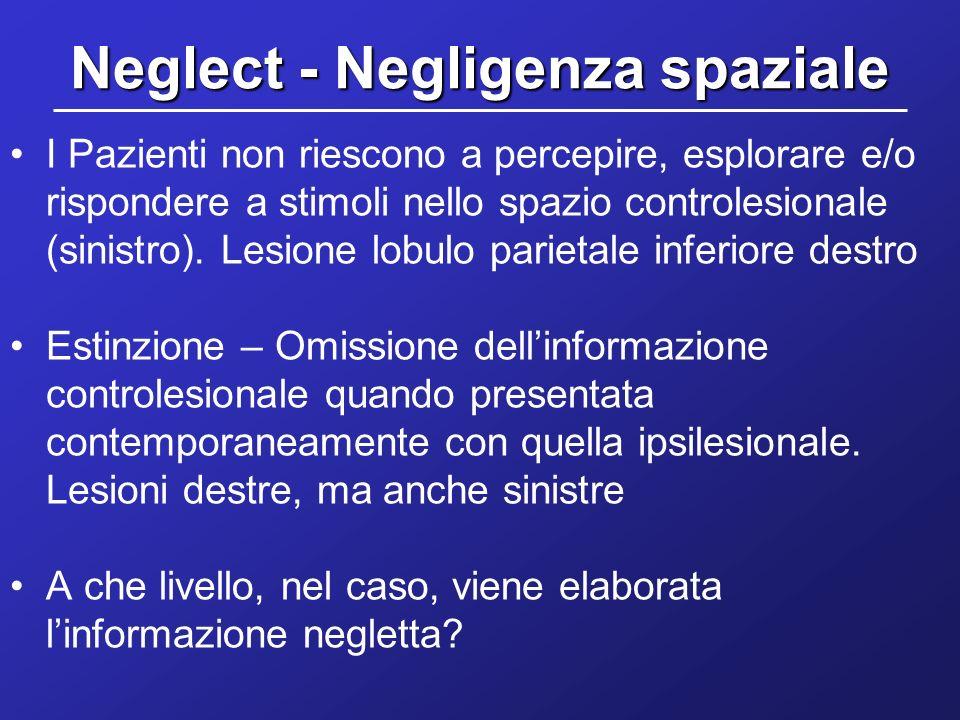 Neglect - Negligenza spaziale