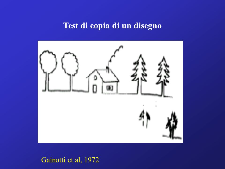 Test di copia di un disegno