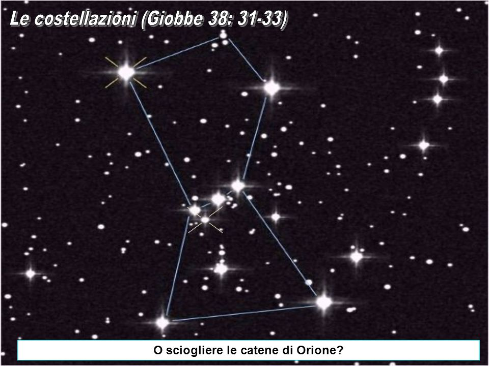 O sciogliere le catene di Orione